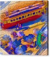 Cafe Tram Scenee Canvas Print