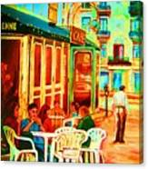 Cafe Vienne Canvas Print