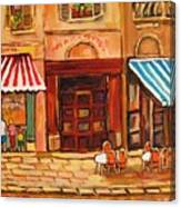 Cafe Vieux Montreal Canvas Print