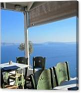 Cafe' With A View Canvas Print