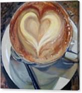 Caffe Vero's Heart Canvas Print