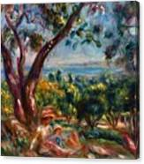 Cagnes Landscape With Woman And Child 1910 Canvas Print