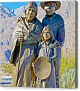 Cahuilla Band Of Agua Caliente Indians Sculpture On Tahquitz Canyon Way In Palm Springs-california Canvas Print