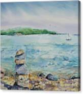 Cairns On The Beach Canvas Print