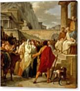 Caius Furius Cressinus Accused Of Sorcery Canvas Print