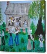 Cajun House Dance Canvas Print
