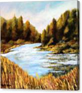 Calapooia River Canvas Print