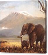 Calf Love Canvas Print