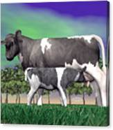 Calf Suckling - 3d Render Canvas Print
