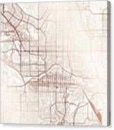 Calgary Street Map Colorful Copper Modern Minimalist Canvas Print