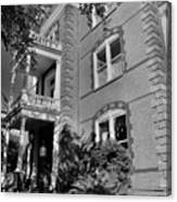 Calhoun Mansion Black And White Canvas Print