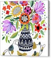 Calico Bouquet Canvas Print
