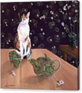 Calico Tea Meditation Canvas Print