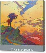 California - America's Vacation Land And New York Central Lines - Retro Travel Poster - Vintage Canvas Print
