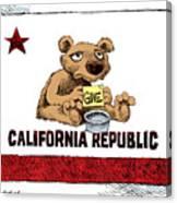 California Budget Begging Canvas Print
