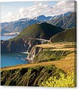 California Coast -  A View Of Bixby Ap Canvas Print