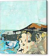 California Coast Collage Canvas Print