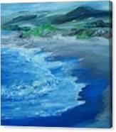 California Coastline Impressionism Canvas Print
