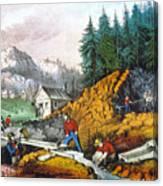 California: Gold Mining Canvas Print