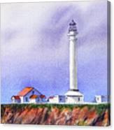 California Lighthouse Point Arena Canvas Print