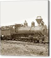 California Northwestern Railroad #30 4-6-0 Baldwin Locomotive Works Circa 1905 Canvas Print