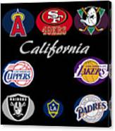 California Professional Sport Teams Collage  Canvas Print