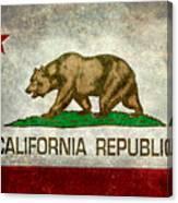 California Republic State Flag Retro Style Canvas Print