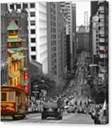California Street San Francisco Canvas Print