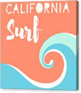 California Surf- Art By Linda Woods Canvas Print