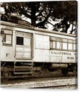 California Western  M 100 Gas Railcar  Skunk Train  Circa 1930 Canvas Print