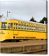 California Western Railroad Motorcar M300 Fiort Bragg California Canvas Print
