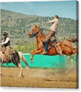 Californios Burns Ranch Bronc 2012 Canvas Print