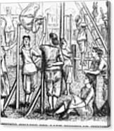 Calisthenics, 1867 Canvas Print