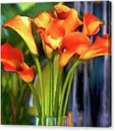 Calla Lilies Bouquet Canvas Print