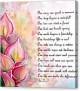 Callas   Poem Canvas Print