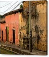 Calle En Suchitoto Canvas Print