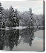 Calm And Frosty Canvas Print
