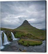 Calm Before The Storm At Kirkjufell Canvas Print