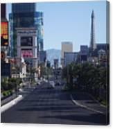 Calm On Vegas Strip Canvas Print
