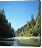 Calm Sandy River In Sandy, Oregon Canvas Print