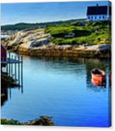 Calm Water At Peggys Cove #3 Canvas Print
