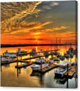 Calm Waters Bull River Marina Tybee Island Savannah Georgia Art Canvas Print