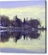 Calming Lavendar Scene Canvas Print