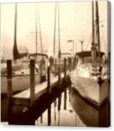 Calmly Docked Canvas Print