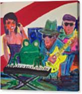 Calogs Frog Blues Band Canvas Print