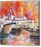 Calpe Harbour Spain Canvas Print