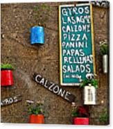 Calzone Canvas Print