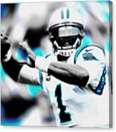 Cam Newton Letting It Fly Canvas Print