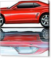 Camaro 2010 Reflects Old Red Canvas Print