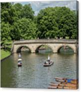 Cambridge Punting On The River Canvas Print